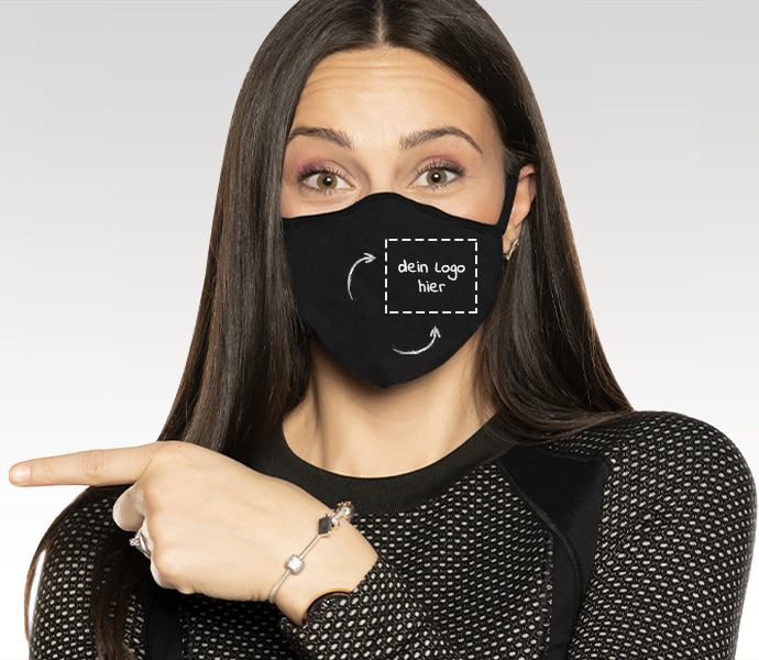 Stoffmasken mit eigenem Logo